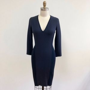 NWT MAXMARA Festa navy dress